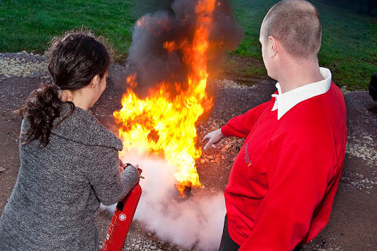 External fire safety training