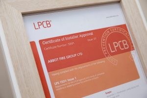 Abbot Fire Group LPCB approval certificate passive fire protection