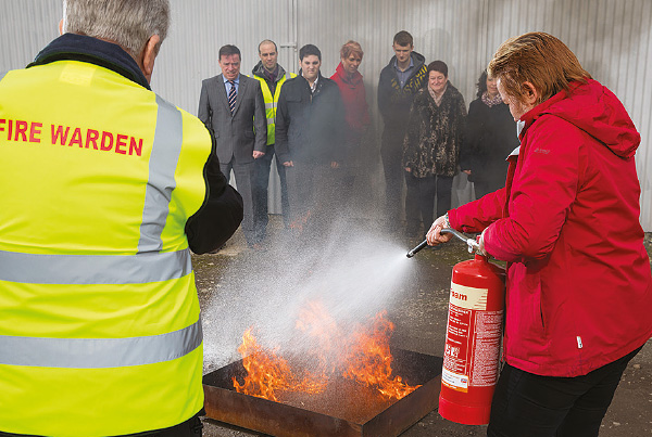 Fire safety training practical use of fire extinguishers