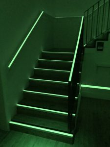 Low level lighting on stairs when dark, the route is clearly highlighted